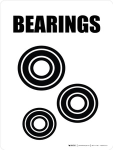 Bearings with Icon Portrait - Wall Sign