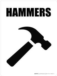 Hammers with Icon Portrait - Wall Sign