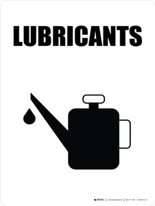 Lubricants with Icon Portrait - Wall Sign