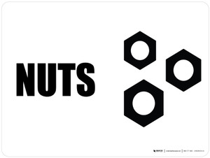 Nuts with Icon Landscape - Wall Sign