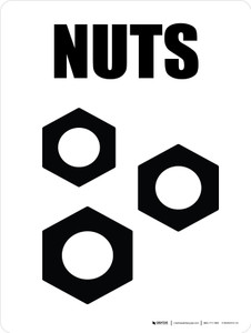 Nuts with Icon Portrait - Wall Sign