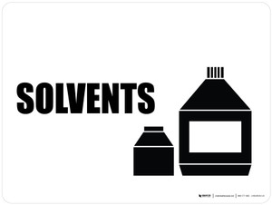 Solvents with Icon Landscape - Wall Sign