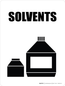 Solvents with Icon Portrait - Wall Sign