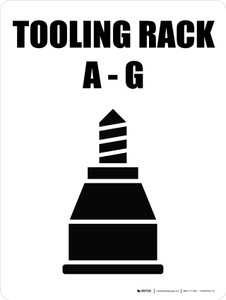 Tooling Rack A-G with Icon Portrait - Wall Sign
