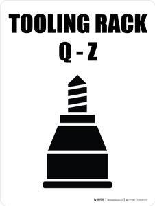 Tooling Rack Q-Z with Icon Portrait - Wall Sign