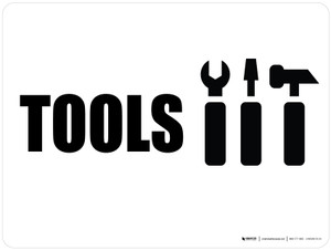 Tools with Icon Landscape - Wall Sign