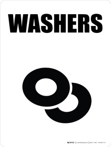 Washers with Icon Portrait - Wall Sign