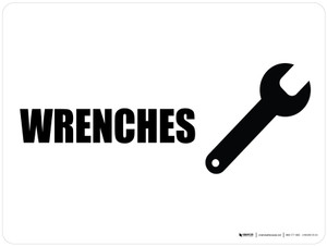 Wrenches with Icon Landscape - Wall Sign