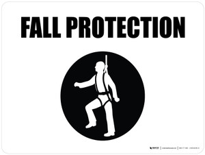 Fall Protection with Icon Landscape - Wall Sign