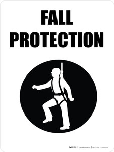 Fall Protection with Icon Portrait - Wall Sign