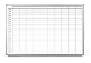 30 Minute Schedule Dry-Erase Scheduling Whiteboard