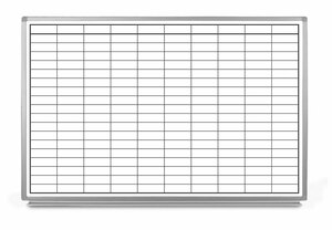 Blank Grid Dry-Erase Whiteboard