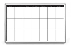 Weekly Calendar Dry-Erase Scheduling Whiteboard