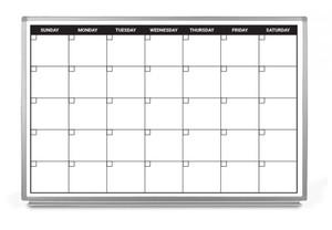 Month Calendar Dry-Erase Scheduling Whiteboard