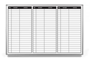 Patient Status Dry-Erase Hospital Whiteboard (Version 1)