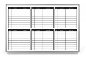Patient Status Groups Dry-Erase Hospital Whiteboard