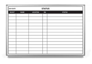 Status Chart Dry-Erase Hospital Whiteboard (Version 2)