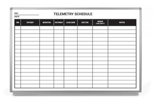 Telemetry Schedule Dry-Erase Scheduling Whiteboard