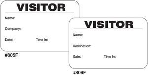 Full-Expiring Visitor Badges with Visitor Pass Registry Book