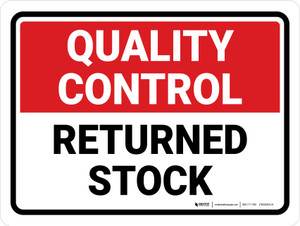 Quality Control: Returned Stock Landscape - Wall Sign