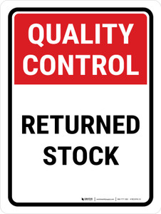 Quality Control: Returned Stock Portrait - Wall Sign