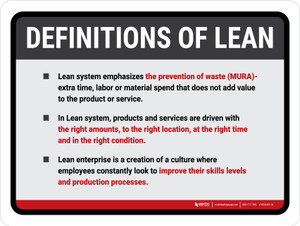Definations of Lean Landscape - Wall Sign