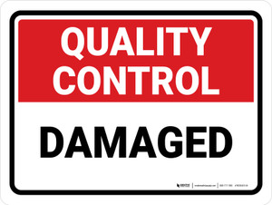 Quality Control: Damaged Landscape - Wall Sign