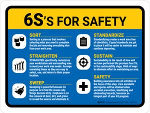 6S For Safety V2 Landscape - Wall Sign