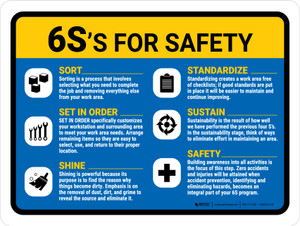 6S For Safety Landscape - Wall Sign