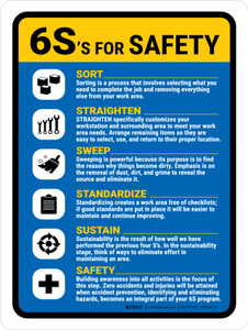 6S For Safety V2 Portrait - Wall Sign