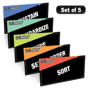 5S Steps Poster Pack (Black)