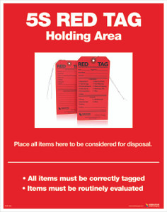 5S Red Tag Area Poster