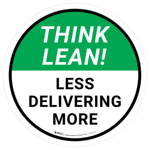 Think Lean: Less Delivering More Circular - Floor Sign