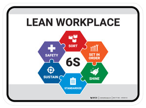 6S Lean Workplace - Floor Sign