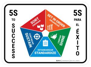 5S To Success Bilingual - Floor Sign
