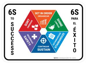 6S To Success Bilingual - Floor Sign