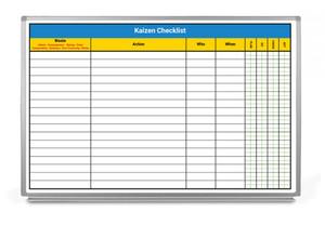 Kaizen Checklist Whiteboard