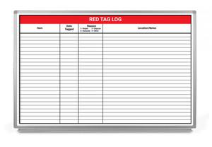 Red Tag Log Whiteboard