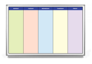 Monday - Friday Schedule with Color Whiteboard