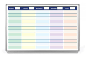 Weekly Calendar with Color Whiteboard