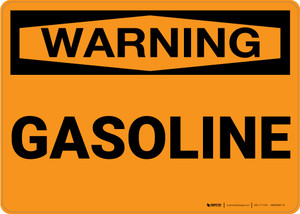 Warning: Gasoline - Wall Sign