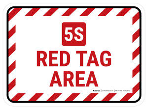 5S Red Tag Area Rectangle - Floor Sign