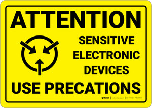 Warning: Static Sensitive Electronic Devices - Wall Sign