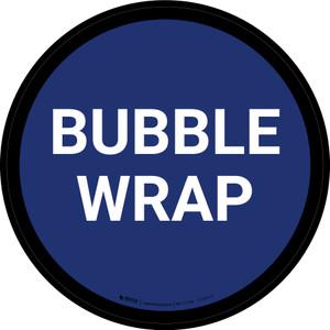 5S Bubble Wrap Blue Circular - Floor Sign
