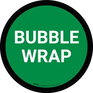5S Bubble Wrap Green Circular - Floor Sign