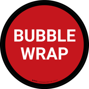 5S Bubble Wrap Red Circular - Floor Sign
