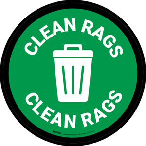 5S Clean Rags Circular - Floor Sign