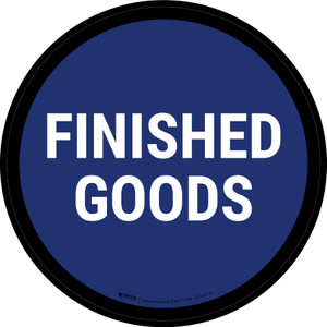 5S Finished Goods Blue Circular - Floor Sign