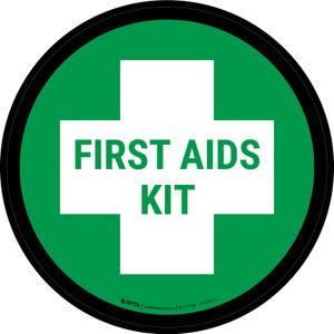 5S First Aid Kit Circular - Floor Sign