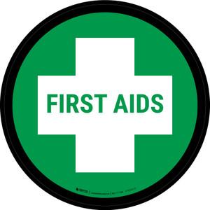 5S First Aid Circular - Floor Sign